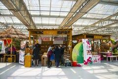 Azja Chiny, Pekin, rolniczy karnawał, Salowa powystawowa sala, sceneï ¼ ŒSpecial merchandise budka fotografia royalty free