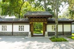 Azja Chiny, Pekin, Taoranting park, Ogrodowy budynek, gatehouseï ¼ Œexterior ściana Obrazy Stock