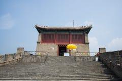 Azja Chiny, Pekin wielki mur Juyongguan, wieża obserwacyjna, kroki Zdjęcia Stock