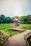 Azja Chiny, Qingdao, Shandong, Zhongshan park zdjęcia stock
