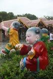 AZJA, CHINY urocze porcelan lale w Shenzhen ludzie obciosuje zdjęcia royalty free