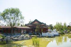 Azja Chiny, Wuqing, Tianjin, Zielony expo, krajobrazowa architektura, pawilon, galeria Zdjęcie Stock