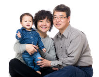 Azja dziadek z ich wnuczką zdjęcia royalty free