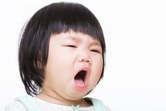 Azja dziewczynki kasłanie fotografia stock