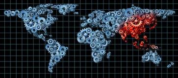 Azja gospodarka royalty ilustracja