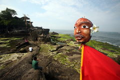AZJA INDONEZJA BALI PURA TANAH udziału świątynia Zdjęcie Royalty Free