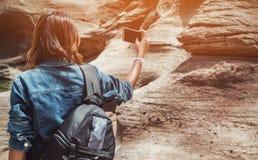 Azja kobieta bierze fotografię Obrazy Stock
