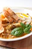 Azja kuchni lontong ketupat ryżowy tort Zdjęcie Royalty Free