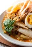 Azja kuchni lontong ketupat ryżowy tort Zdjęcia Stock