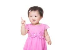 Azja małej dziewczynki palcowy wskazywać out fotografia royalty free