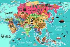 Azja mapa Fotografia Royalty Free