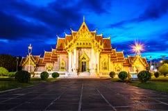Azja Marmurowa świątynia, Bangkok, Tajlandia (Wat Benchamabophit) Fotografia Royalty Free