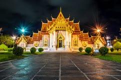 Azja Marmurowa świątynia, Bangkok, Tajlandia (Wat Benchamabophit) Fotografia Stock