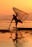 AZJA MYANMAR INLE jezioro Fotografia Stock