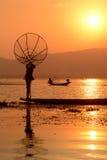 AZJA MYANMAR INLE jezioro Obrazy Royalty Free