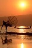 AZJA MYANMAR INLE jezioro Zdjęcie Royalty Free