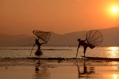 AZJA MYANMAR INLE jezioro Zdjęcia Stock