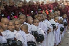AZJA MYANMAR MANDALAY AMARAPURA MAHA GANAYON KYAUNG monaster Fotografia Royalty Free