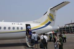 AZJA MYANMAR YANGON lotnisko Zdjęcie Stock