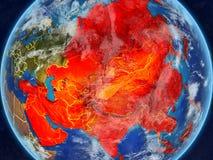 Azja na ziemi od przestrzeni ilustracji