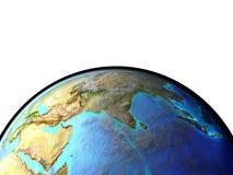 Azja od przestrzeni royalty ilustracja