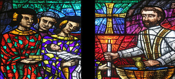 Azja okno w Votiv Kirche w Wiedeń Obraz Stock