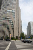 Azja Pekin Środkowa dzielnica biznesu, Chiny, nowożytna architektura, miasto piętrowi budynki Obrazy Stock