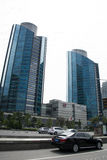 Azja Pekin Środkowa dzielnica biznesu, Chiny, nowożytna architektura, miasto piętrowi budynki Fotografia Royalty Free