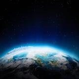 Azja Południowo-Wschodnia światła przy nocą Zdjęcie Royalty Free