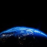Azja Południowo-Wschodnia miasta światła przy nocą Obrazy Royalty Free