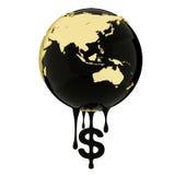 Azja Południowo-Wschodnia na ziemi olej Zdjęcia Stock