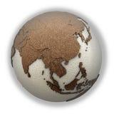 Azja Południowo-Wschodnia na światło ziemi Fotografia Stock