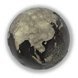 Azja Południowo-Wschodnia na ziemi olej Obrazy Stock