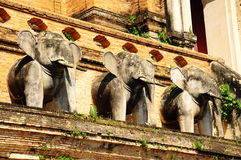 Azja słonia statua, Thailand Obraz Royalty Free
