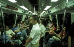 AZJA SINGAPUR transportu pociąg obraz royalty free