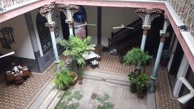 Azja typowy domowy błękitny dwór Penang zdjęcia royalty free