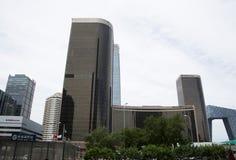 Azjata Chiny, Pekin, CBD Środkowa dzielnica biznesu nowożytna architektura, piętrowi budynki Zdjęcie Royalty Free