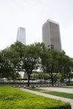 Azjata Chiny, Pekin, CBD Środkowa dzielnica biznesu nowożytna architektura, piętrowi budynki Zdjęcia Stock
