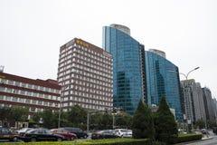 Azjata Chiny, Pekin, CBD Środkowa dzielnica biznesu nowożytna architektura, piętrowi budynki Zdjęcia Royalty Free