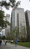 Azjata Chiny, Pekin, CBD Środkowa dzielnica biznesu nowożytna architektura, piętrowi budynki Obraz Royalty Free