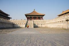 Azjata Chiny, Pekin, historyczni budynki Cesarski pałac Obraz Royalty Free