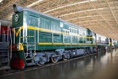Azjata Chiny, Pekin, Kolejowy muzeum, powystawowa sala, pociąg Fotografia Royalty Free