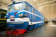 Azjata Chiny, Pekin, Kolejowy muzeum, powystawowa sala, pociąg Zdjęcie Stock
