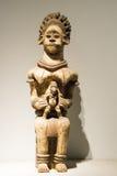 Azjata Chiny, Pekin, muzeum narodowe, salowa powystawowa sala, Afryka drewniany cyzelowanie Zdjęcie Stock