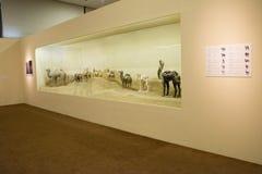 Azjata Chiny, Pekin, muzeum narodowe wystawa zachodni regiony jedwabnicza droga, Obrazy Stock
