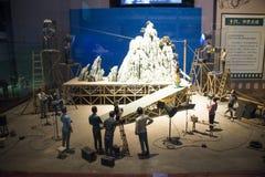 Azjata Chiny, Pekin, Porcelanowego obywatela filmu Museumï ¼ ŒIndoor powystawowa sala, Obraz Stock