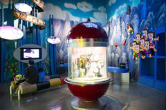 Azjata Chiny, Pekin, Porcelanowego obywatela filmu Museumï ¼ ŒIndoor powystawowa sala, Fotografia Royalty Free