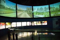 Azjata Chiny, Pekin, Porcelanowego obywatela filmu Museumï ¼ ŒIndoor powystawowa sala, Zdjęcie Stock