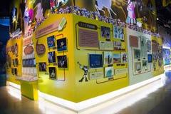 Azjata Chiny, Pekin, Porcelanowego obywatela filmu Museumï ¼ ŒIndoor powystawowa sala, Zdjęcia Stock