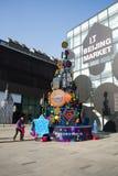 Azjata Chiny, Pekin, Taikoo Li Sanlitun, otwiera zakupy okręgu Fotografia Stock